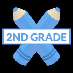 Icono de lápiz de dos colores icono de 2do grado
