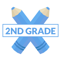 Two color pencil school 2nd grade icon