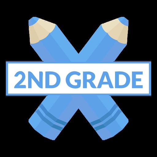 Icono de 2do grado de escuela de lápiz de dos colores