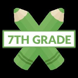 Icono de lápiz de dos colores de séptimo grado escolar