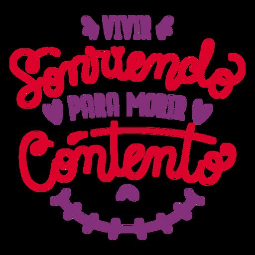 Composición de letras sonrientes en vivo Transparent PNG