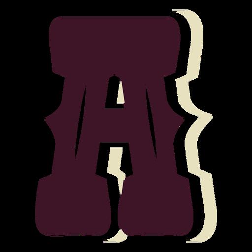 Western block capital letter a