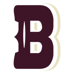 Letra maiúscula b do bloco ocidental