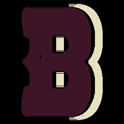 Letra mayúscula del bloque occidental b