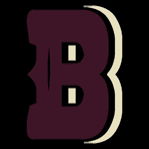 Western block capital letter b