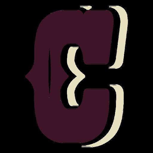 Western block capital letter c