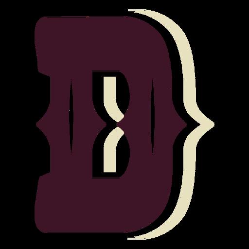Western block capital letter d