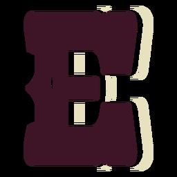 Western block capital letter e