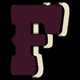 Western block capital letter f