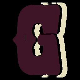 Western block capital letter g