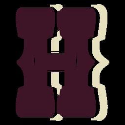 Letra mayúscula del bloque occidental h