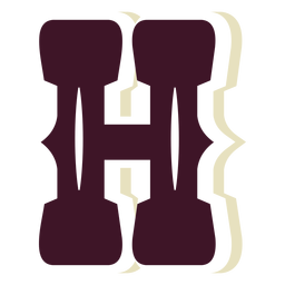 Western block capital letter h