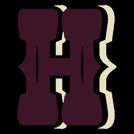 Letra mayúscula de bloque occidental h Transparent PNG