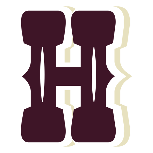 Western block capital letter h