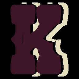 Western block capital letter k