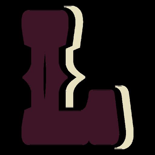 Western block capital letter l