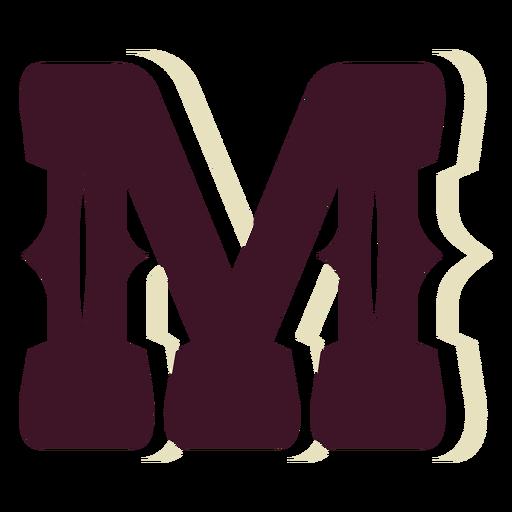 Western block capital letter m