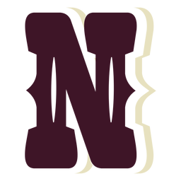Western block capital letter n