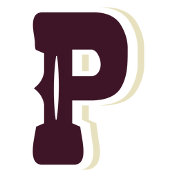 Western block capital letter p