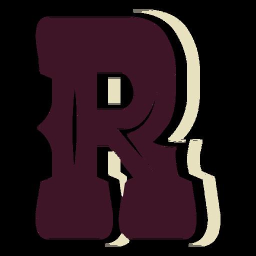 Western block capital letter r