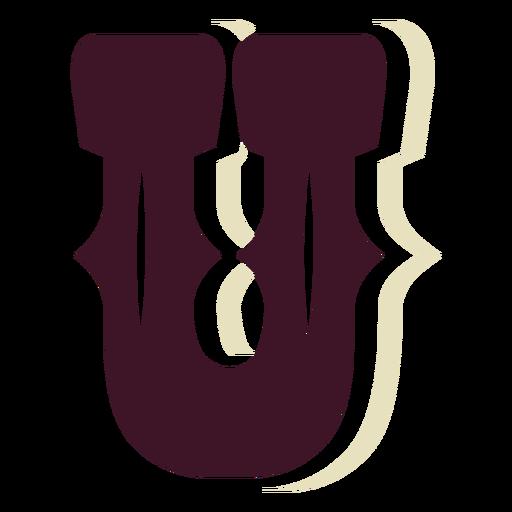 Western block capital letter u