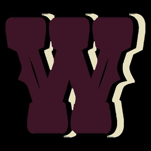 Western block capital letter w