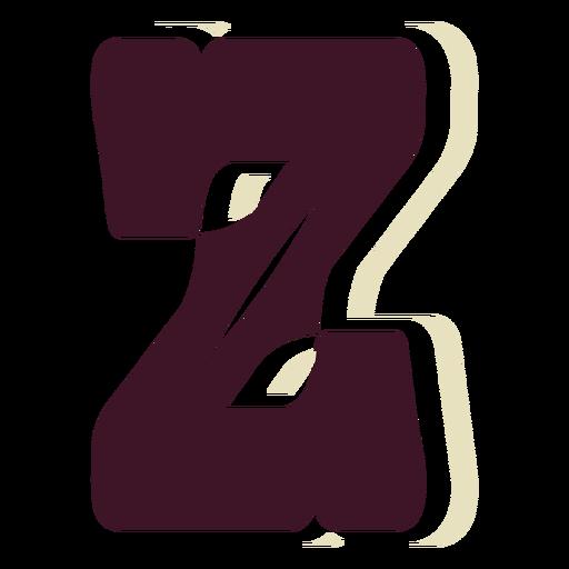 Western block capital letter z