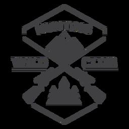 Logotipo do emblema do clube de caça selvagem