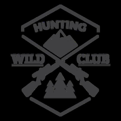 Logotipo de la insignia del club de caza salvaje Transparent PNG