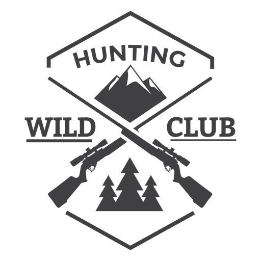 Wild hunting club badge logo Transparent PNG