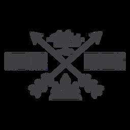 Logotipo de distintivo de caça ao ar livre selvagem
