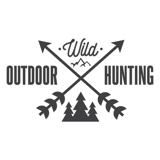 Logotipo de insignia de caza al aire libre salvaje Transparent PNG