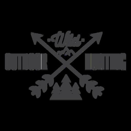 Logotipo de insignia de caza al aire libre salvaje