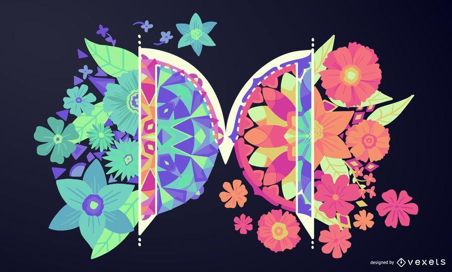 Letter M Mandala Typography Design