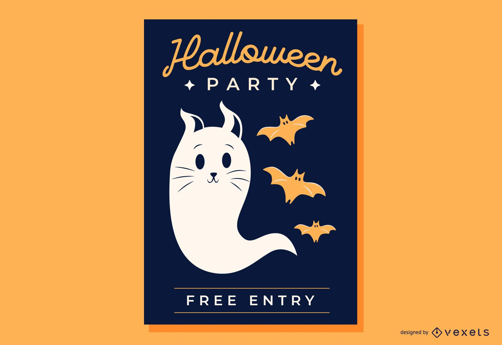 Vector Flyer on Halloween