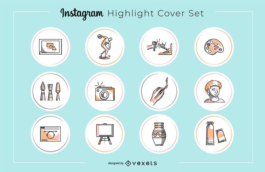 Instagram Art Highlight Cover Set