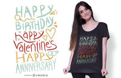 Diseño de camiseta Happy Celebration