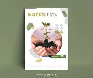 Earth Day Poster Vorlage