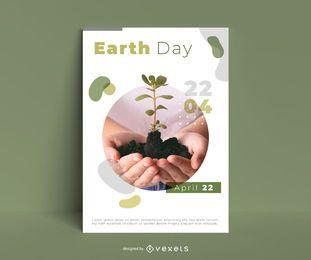 Plantilla de póster del día de la tierra