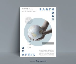 Modelo de cartaz do planeta terra dia