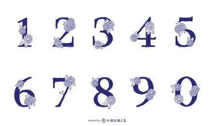 Floral Number Design Pack
