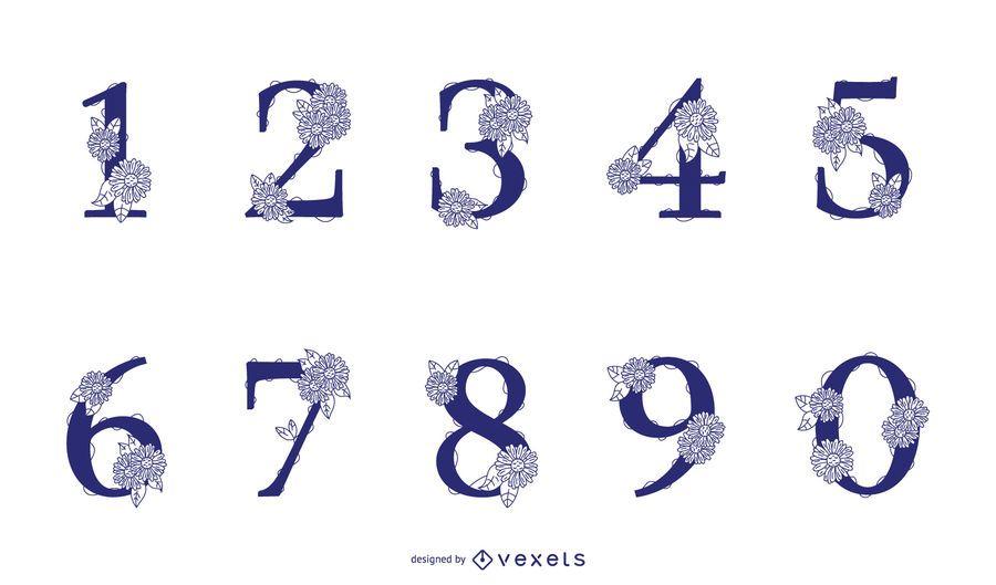 Floral Number Design Pack