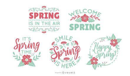 Springtime lettering set