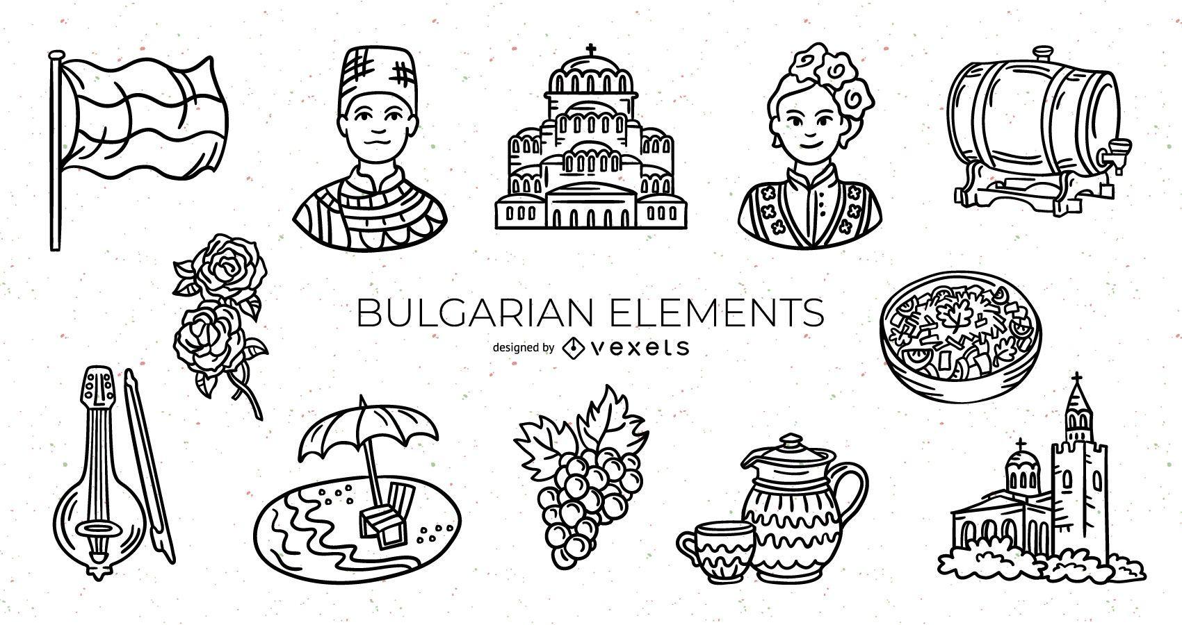Bulgarian Stroke Elements Design Pack