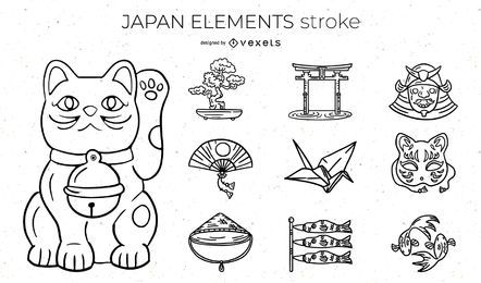 Japan Elements Stroke Design Pack