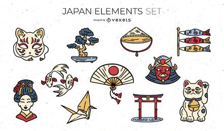 Japanese Elements Illustration Pack