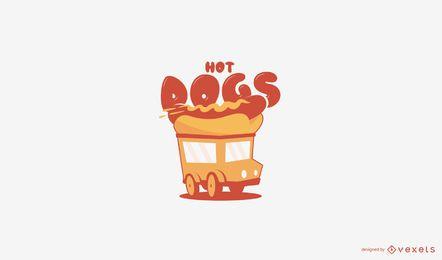 Modelo de logotipo de caminhão de comida de cachorro-quente