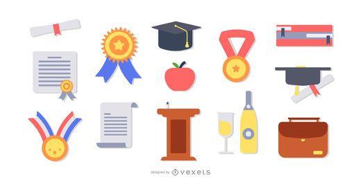 Conjunto plano de elementos de graduación