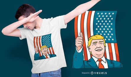 Design de t-shirt de Donald Trump