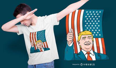 Design de t-shirt de Donald Trump